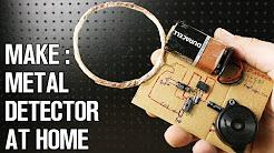 Homemade Metal Detector Simple & Sensitive